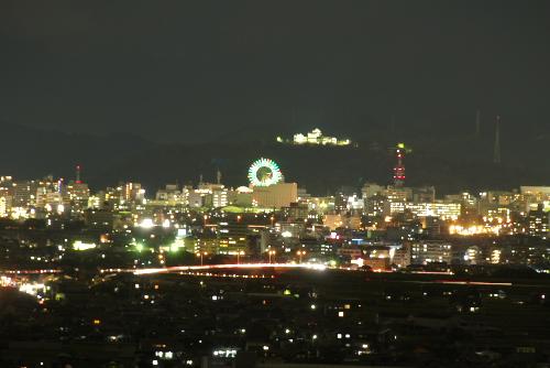 伊予灘サービスエリア 夜景