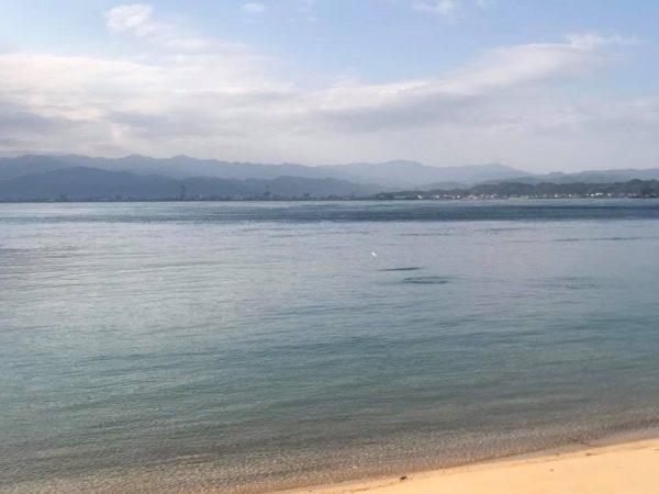 大島の海沿い