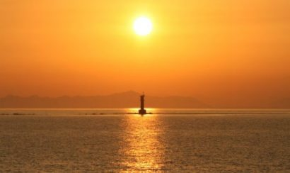 海岸線の夕日 愛媛