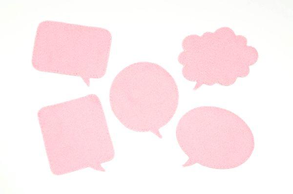 ピンク 吹き出し 意見