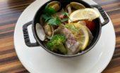 真鯛と季節野菜の塩レモン焼
