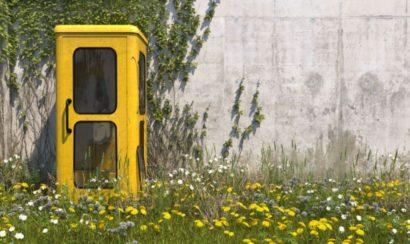 電話ボックス 黄色
